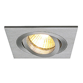 New Tria I GU10 downlight, square, alu brushed