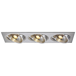 New Tria III ES111 downlight, rectangular, alu brushed