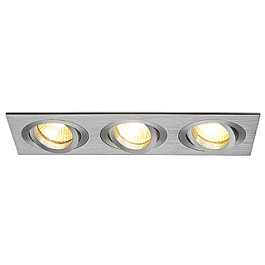 New Tria III GU10 downlight, rectangular, alu brushed