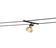 Black Suspended Wire Track Lighting