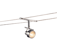 Chrome Suspended Wire Lighting