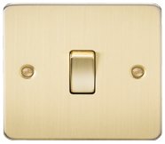 Flat Plate Brushed Brass