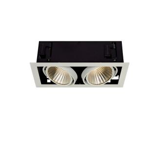 SLV 115741 Kadux LED XL Square Matt White 2 x 24.5W 3K Dimmable Driver Incl