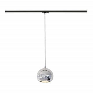 SLV 143620 Light Eye pendant Chrome for Track, Dimmable, Requires QPAR111 LED