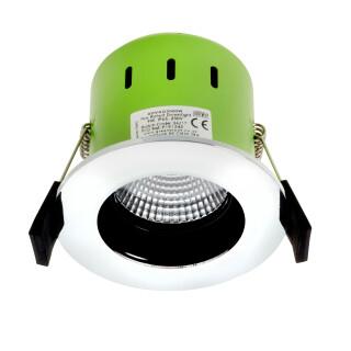 Greenbrook ADVAG3000W 9W IP65 Anti Glare LED Fire Rated P/Chrome Warm White