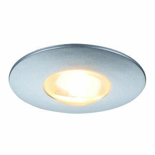 SLV 112242 DEKLED Recessed Silver Grey 1W LED Warm White, cut out 25mm, depth 15mm