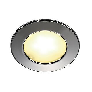 SLV 112222 DL 126 LED Chrome 3W Warm White, cut out 57mm, depth 14mm