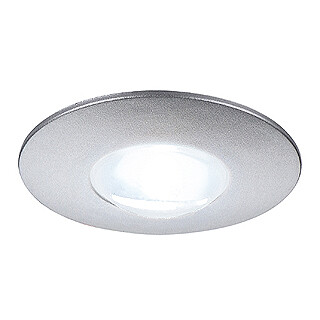 SLV 112240 DEKLED Recessed Silver Grey 1W LED White, cut out 25mm, depth 15mm