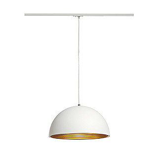 SLV 143931 Forchini 40cm Track pendant, White/Gold, White Adapter, Dommable, Requires E27 LED