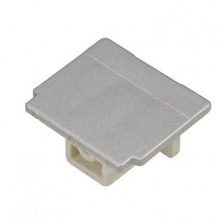 SLV 145594 EUTRAC End cap Silver Grey plastic
