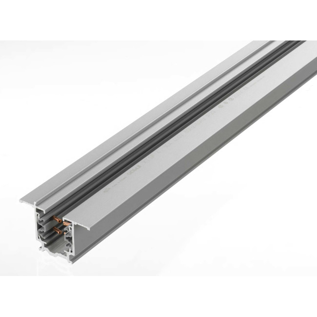 Recessed Led Track Lighting: Global 2m Grey Recessed Track