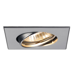 SLV 113218 Square GU10 Adjustable Downlight Chrome matt