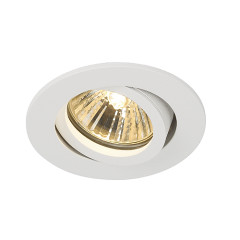 SLV 113461 New Tria 68 Matt White, Requires GU10 LED, cut out 68mm, depth 135