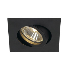 SLV 113470 New Tria 68 GU10 Adjustable Downlight Square Matt Black