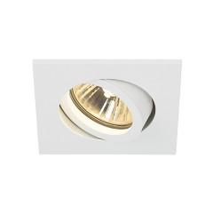 SLV 113471 New Tria 68 GU10 Adjustable Downlight Square Matt White