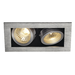 SLV 115526 KADUX 2 GU10 Downlight Adjustable Alu Brushed