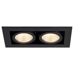 SLV 115710 Kadux LED Matt Black 2 x 6.2W 3000K Dimmable Driver Incl