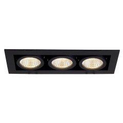 SLV 115720 Kadux LED Matt Black 3X 6.2W 3000K Dimmable Driver Incl