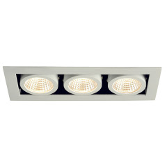 SLV 115721 Kadux LED Matt White 3X 6.2W 3000K Dimmable Driver Incl