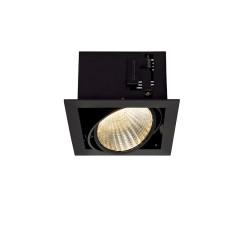 SLV 115730 Kadux LED XL Square Matt Black 24.5W 3K Dimmable Driver Incl