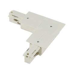 SLV 1001537 EUTRAC L-coupler for 3-phase Recessed track White