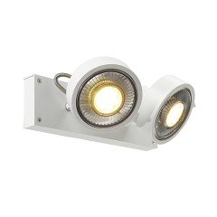 SLV 147311W KALU 2 QPAR ceiling luminaire Matt White ES111 2 x75W