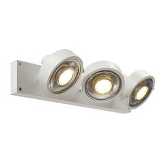 SLV 147321W KALU 3 QPAR ceiling luminaire Matt White ES111 3x75W
