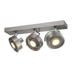 SLV 147326 KALU 3 QPAR ceiling luminaire Alu Brushed ES111 3x75W