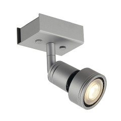 SLV 147364 PURI 1 ceiling luminaire Silver Grey 1xGU10