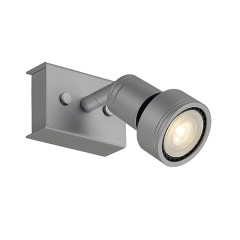 SLV 147364W PURI 1 ceiling luminaire Silver Grey 1xGU10