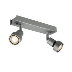 SLV 147374 PURI 2 ceiling luminaire Silver Grey 2 xGU10
