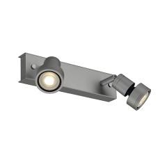 SLV 147374W PURI 2 ceiling luminaire Silver Grey 2 xGU10