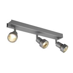 SLV 147384 PURI 3 ceiling luminaire Silver Grey 3xGU10