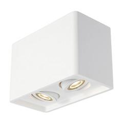 SLV 148052 PLASTRA BOX 2 ceiling luminaire Square White plaster 2 xGU10