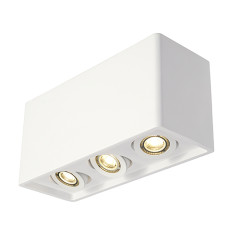 SLV 148053 PLASTRA BOX 3 ceiling luminaire Square White plaster 3xGU10
