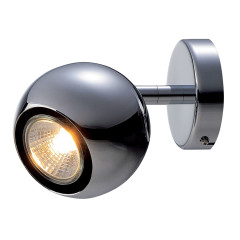 Light Eye 1 GU10 Chrome Wall Light, GU10, 50W
