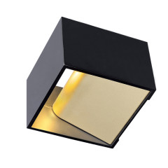 SLV 151320 Square Black/brass 5W LED 3000K
