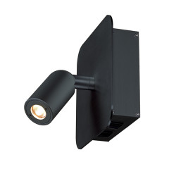 SLV 155100 2 x 1W LED 3000K Black incl. driver and switch