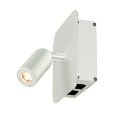SLV 155101 2 x 1W LED 3000K White incl. driver and switch