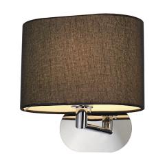 SLV 155860 SOPRANA OVAL wall luminaire WL-1 Blackes textile E27