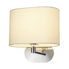 SLV 155861 SOPRANA OVAL wall luminaire WL-1 Whitees textile E27