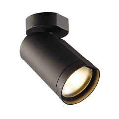 SLV 156420 Single Matt Black 15W COB LED 25 Degree 2700K with wall plate