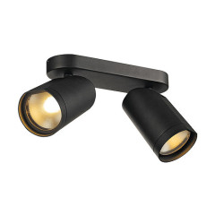 SLV 156430 Double Matt Black 2 x 15W COB LED 25 Degree 2700K