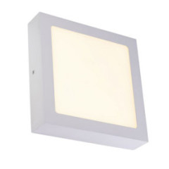 SLV 163013W Square Silver Grey 14W SMD LED 120 Degree 3000K