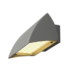 SLV 227054 NOVA LED WALL OUT wall luminaire Silver Grey 4.2W 3000K IP44
