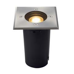 SLV 227684 Square stainless steel bezel GU10 6W