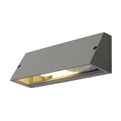 SLV 230034 PEMA Square wall lamp Silver Grey E27