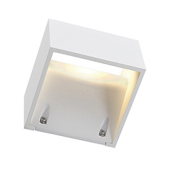SLV 232101 LOGS WALL wall lamp Square White 6W LED Warm White