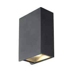 SLV 232445 Square anthracite 2 x 3.2W COB LED 3000K IP44 up/down