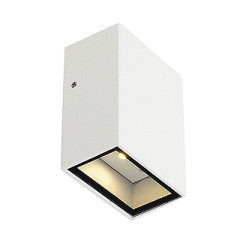 SLV 232461 QUAD 1 wall lamp Square White LED 1x3W Warm White